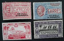 SCARCE 1909- Tripolitania lot of 4 Express stamps Mint