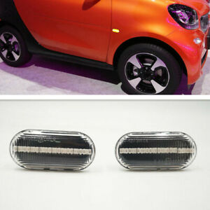 2PCS LED Side Marker Lights Signal Lamp For Smart FORTWO Coupe (453) 2015-2020