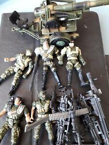 Large bundle Chap Mei Action Figures guns and cannon