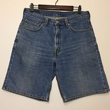 Vintage 90s Levis Denim Jean Shorts 550 Size 34 Relaxed Fit Soft Blue 1990s