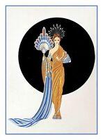 Goddess Athena ERTE, Romain de Tirtoff  Counted Cross Stitch Chart Pattern