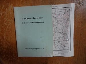 1955 der Bezard Kompass beschreibung Gebrauchsanleitung G Lufft GMBH Stuugart