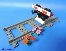 LEGO® Eisenbahn gerade Schiene mit Prellbock Nr.7 / rot  mit Puffer