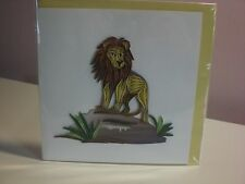 Quilling Cards Llc - 3D Lion Note Card