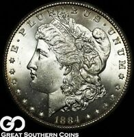 1884-CC Morgan Silver Dollar Silver Coin, Very PQ Superb Gem BU++ ** Free S/H