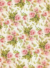 Papel De Arroz romántico Rosas Rojas Para Decoupage Decopatch Scrapbook Craft Hoja