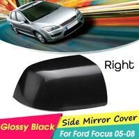 Wing Door Mirror Cover Right Driver Side For Ford Focus 2005 - 2008 Cap Casing
