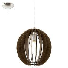 Lampadario in legno a 1 luce marrone moderno D.30 GLO 94635 Cossano