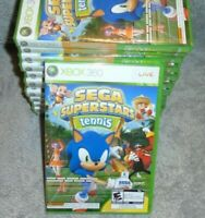 Sega Superstars Tennis & Arcade Game for XBOX 360 system NEW SEALED KIDS SONIC