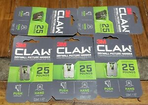 CLAW Drywall Picture Hanger 25 lb, 3PH25-1ES, 5 Packs