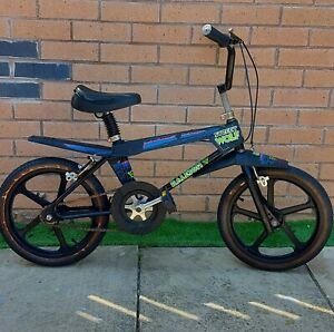 1980s Vintage Raleigh Street wolf bmx Bike Retro Classic Mag Wheels