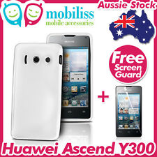 Clear TPU Gel Jelly Case Cover Skin Screen Protector Telstra Huawei Ascend Y300