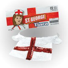 ENGLAND SEQUIN TIARA HAT ST GEORGE FANCY DRESS ACCESSORY