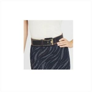 CARLISLE NY Pacifica Belt Genuine LEATHER NWT$195 Sz XL faux stingray belt ma