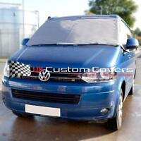 VW T5 T6 Transporter Wohnmobil Windschutzscheibe Vorhang Bezüge Deckel Grau 118