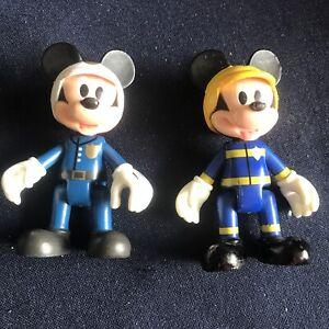 Mickey Mouse Figures  X2 (8cm Tall) IMC Toys