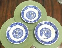 3 WILLOW WARE by Royal China Bowls in Blue & White