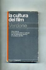 Mario Verdone # LA CULTURA DEL FILM # Garzanti 1977 1A ED.