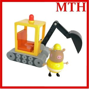 Peppa Pig Mr Bull Digger Electronic Toy Sounds + Figure RARE Working