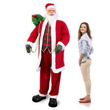 Babbo Natale Grandezza 2,0m Canterino Ballerino Musica Grandezza Naturale 200cm