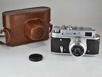 "1968 RUSSIAN USSR ""ZORKI 4"" RANGEFINDER CAMERA + INDUSTAR-50 lens, f3.5/50 (8)"