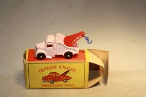13A 1950s Bedford Tow Truck Matchbox Plastic Copy Made in Hong Kong  Mint in Box