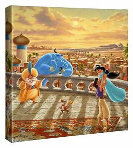 Thomas Kinkade Jasmine Dancing, Mulan & Cinderella Dancing 14 x 14 Wraps