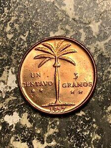 1957 Dominican Republic 1 Centavo Lot#Q6256 High Grade! Beautiful!
