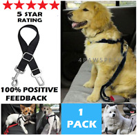 ONE Dog Pet Cat Safety SEAT BELT Car Seat Belt Adjustable Harness Lead 5 STARS