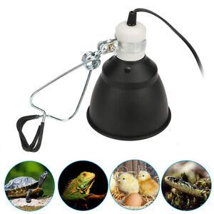 Reptile Ceramic Heat UVA/UVB Lamp Light Dome Holder Turtle Brooder Basking