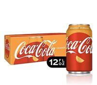 RARE Coca-Cola Orange Vanilla Soda, 12 Count, 12oz Cans FAST FREE SHIPPING