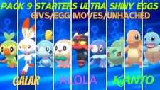 ALL 12 STARTERS EGGS-FORM SQUARE SHINY HA 6IVs Pokémon Sword & Shield Home