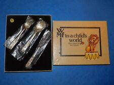 "WMF ""IN A CHILD'S WORLD"" SAFARI FLATWARE KNIFE FORK SPOON BOXED CUTLERY"