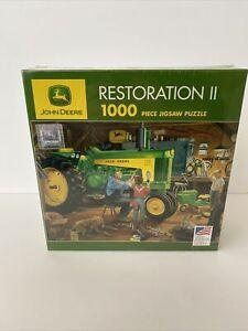 "Charles Freitag New John Deere Tractors-730 1000 pc Puzzle ""Restoration II"" 2001"