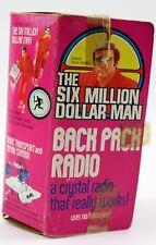 1973 Steve Austin The Six Million Dollar Man Back Pack Radio MIB