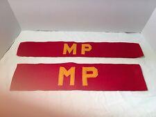 WWI & WWII USMC US Marine Corps Military Police Armband set Wool