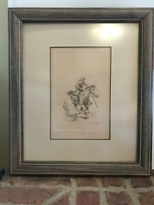 """BARRY EUREN """"The case"""" LIMITED EDITION HAND SIGNED ETCHING"""