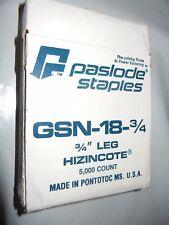 new genuine Paslode GSN-18 3/4 leg HINZINCOTE Staples 5000 count ct pastlode gun