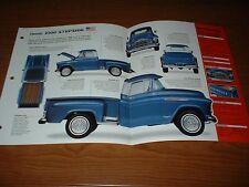 1957 CHEVY 3100 STEPSIDE ORIGINAL IMP BROCHURE 57 265 PICKUP TRUCK APACHE GM GMC