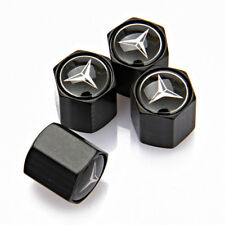 4x Universal Car Auto Tire Valve Stems  Caps Covers Logo Fit For Mercedes-Benz