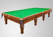 Full Size Burr Oak Antique Snooker Table by Burroughs & Watts