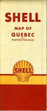 1952 Shell Road Map: Quebec (no header) NOS