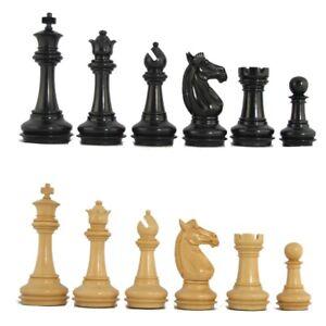 """4 ¼"""" MoW Ebonized Phalanx Staunton Chess Pieces Set"""