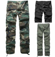 Womens Ladies Comfort Casual Cargo Pants Outdoor Camping Trekking pants LOW RISE