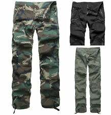 Womens Ladies Comfort Casual Cargo Pants Outdoor Camping Trekking pants LOW RISE