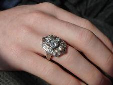 Bellas Twilight Ring - Solid Sterling - CZ's - Wedding - Engagement - Art Deco