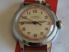 Vintage 1960s ROBOT 17J Manual Wind Boy Size Men's Watch -- For Repair /Parts