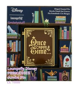 Loungefly DISNEY PRINCESS LE 1000 Once Upon A Time Hinged Book Jumbo Enamel PIN