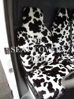 TO FIT A PEUGEOT BOXER VAN SEAT COVERS - SWB, COW FAUX FUR