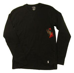 Polo Ralph Lauren Men's Black Crew-Neck Long Sleeve Lounge T-Shirt